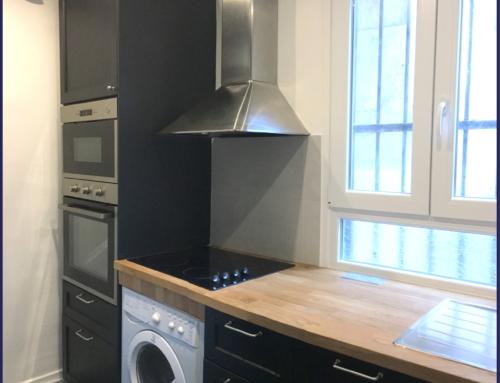 Réagencement & Rénovation cuisine et salle de bain 9m² – Paris 18
